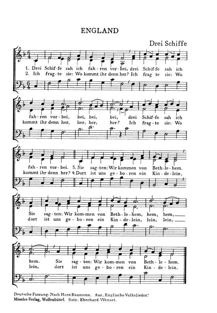 3 Stimmige Weihnachtslieder.Europäische Weihnachtslieder Band 2