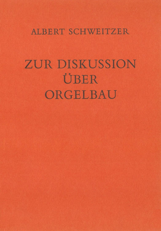 Zur Diskussion über Orgelbau (1914)