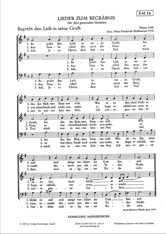 Lieder zum Begräbnis