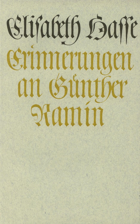 Erinnerungen an Günther Ramin