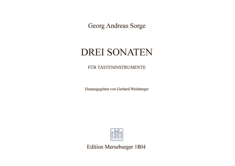 Drei Sonaten für Tasteninstrumente