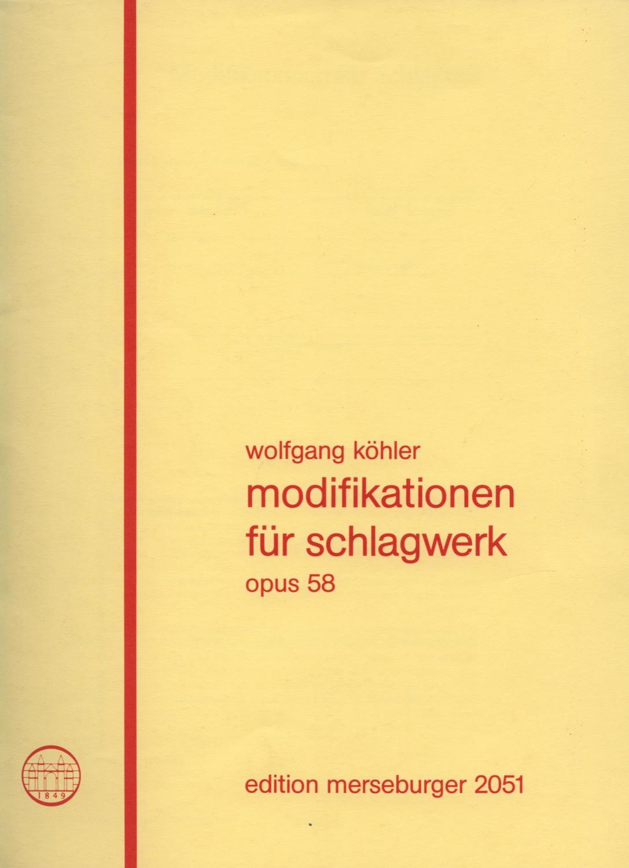 Modifikationen für Schlagwerk, op. 58