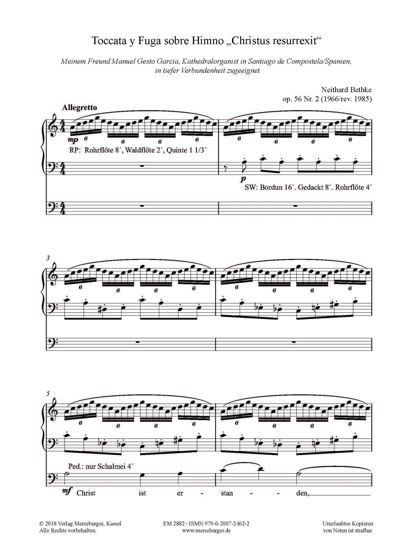 Toccata y Fuga sobre Himno 'Christus resurrexit' op. 56/2 (1966/rev. 1985)