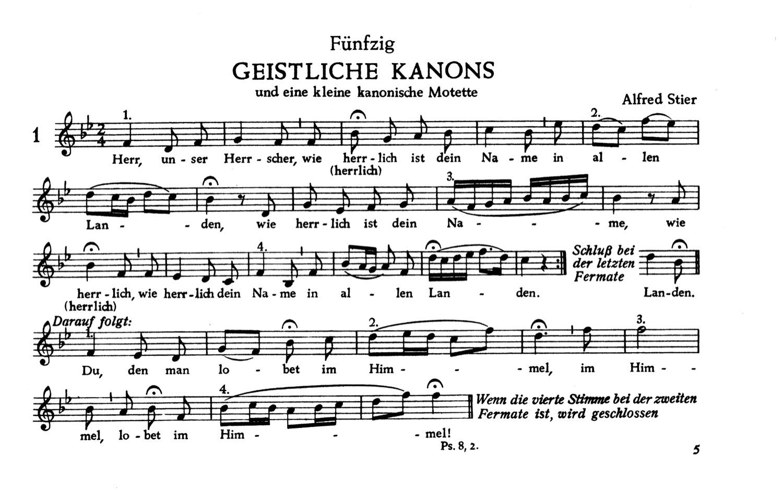 Fünfzig geistliche Kanons und eine kanonische Motette