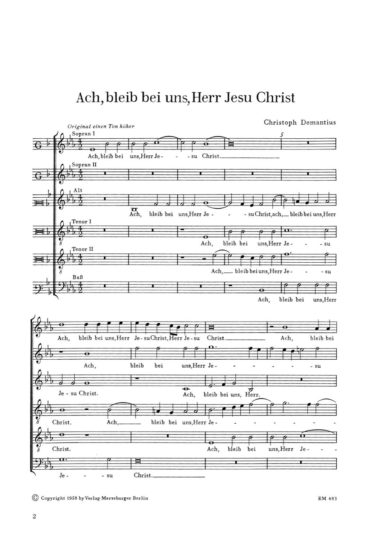 Ach bleib bei uns, Herr Jesu Christ