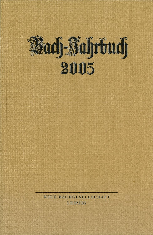 Bach-Jahrbuch 2005