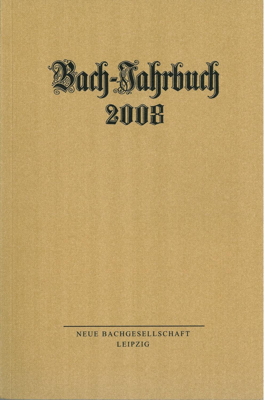 Bach-Jahrbuch 2008