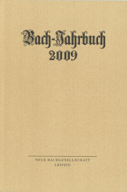 Bach-Jahrbuch 2009