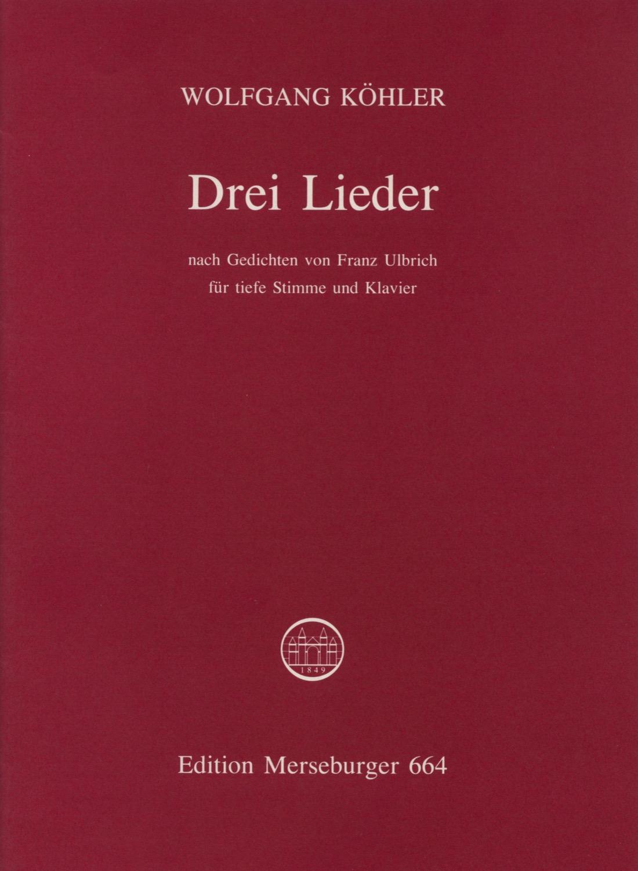 Drei Lieder, opus 6