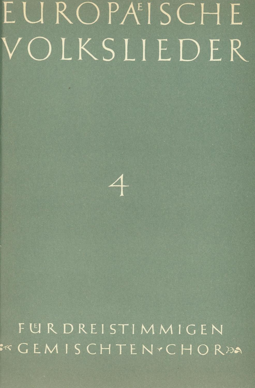 Europäische Volkslieder - Heft 4